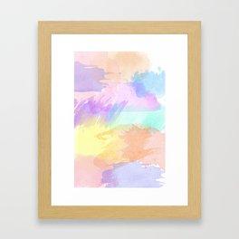 Watercolor Splash Framed Art Print