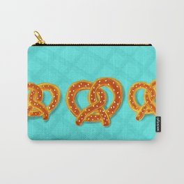 Pretzels on Blue Carry-All Pouch