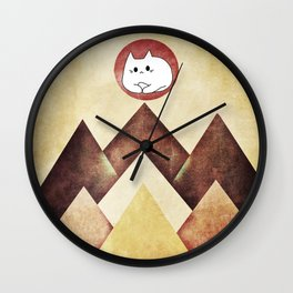 cat 248 Wall Clock