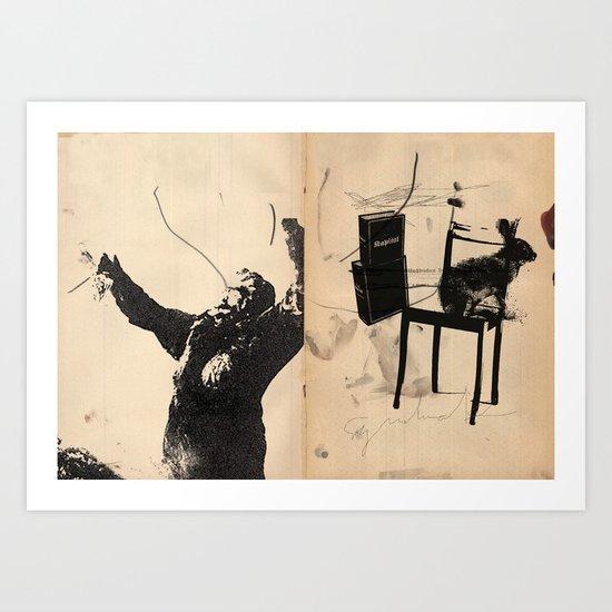 Meschugge with Marx, King Kong Kapital 4 Art Print
