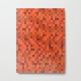 Tangerine Tiles Metal Print
