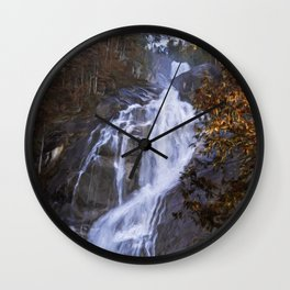 Tranquility Of Creation - Waterfall Art Wall Clock