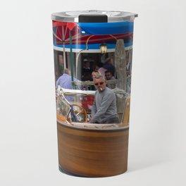 Macho Cigarette Smoking Boatman in Venice Travel Mug