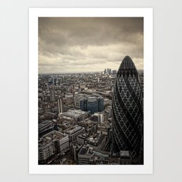 London from the 39th floor Art Print