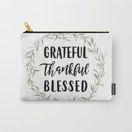 Grateful Thankful Blessed Carry-All Pouch