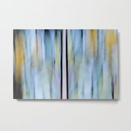Buttery Lines (Abstract Blue) Metal Print
