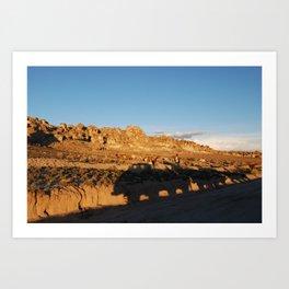 Sunset with shades and lamas Art Print