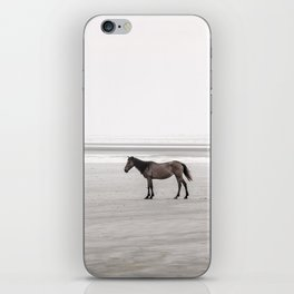 Horse a la playa iPhone Skin