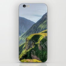 Mountains, green, gigantic, steep and rolling iPhone & iPod Skin