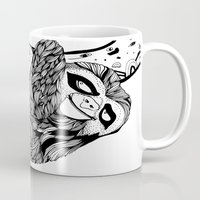 sloth Mugs featuring Sloth  by Animaux Circus