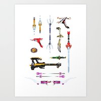 arsenal Art Prints featuring Arsenal by Ranger Danger