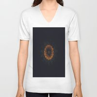 golden V-neck T-shirts featuring Golden by Jane Lacey Smith