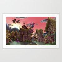 Sunrise in ponyville Art Print