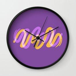 VibrantBrush8 Wall Clock