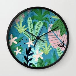 Into the jungle - twilight Wall Clock
