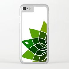 green flower Clear iPhone Case