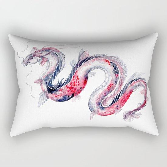 Koi Dragon Rectangular Pillow