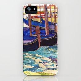 Gondolas parking, Venice iPhone Case