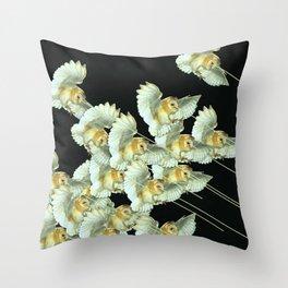 Killer Owls Throw Pillow