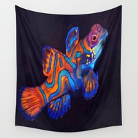 duvet cover Wall Tapestries featuring AMAZING CREATURE DUVET COVER by aztosaha