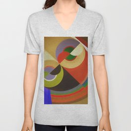 Abstract Composition 21 Unisex V-Neck