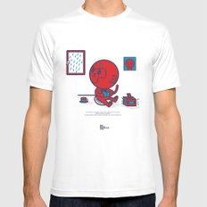 The Monkey and the Rain MEDIUM White Mens Fitted Tee