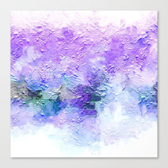 Lovely Lanvendar Pastel Textured Abstract Art Canvas Print By Artaddiction45