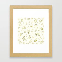 Yellow Branches – Floral Heart Collection Framed Art Print