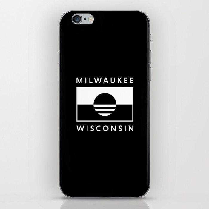 Milwaukee Wisconsin - Black - People's Flag of Milwaukee iPhone Skin
