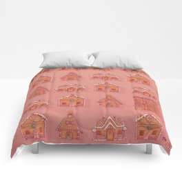 Gingerbread house pattern Comforters