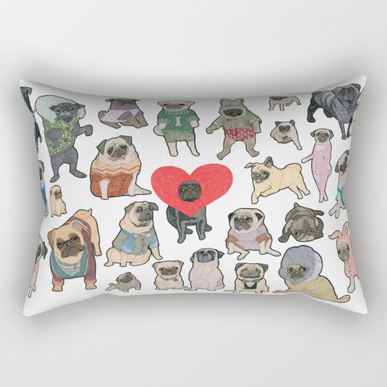 Pugs Rectangular Pillow