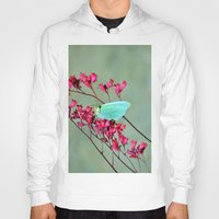 butterfly Hoodies featuring butterfly by  Agostino Lo Coco