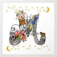 Letter M Print, Tee Shirt, Mug and More Art Print