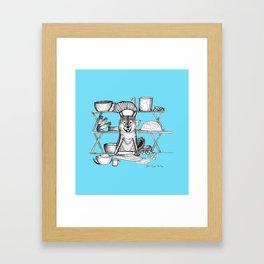 Shiba Inu Dog Baking a Loaf of Bread Framed Art Print