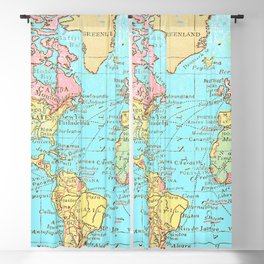Map of the World Blackout Curtain