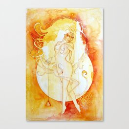 Goddess of Leo - A Fire Element Canvas Print