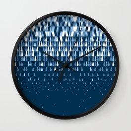 Rain (in your brain) Wall Clock