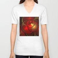 shining V-neck T-shirts featuring Shining Fractal by gabiw Art