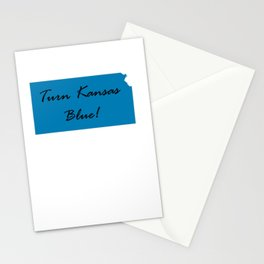 Turn Kansas Blue! Proud Vote Democrat Liberal! 2018 Midterms Stationery Cards