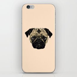 Geometric Pug iPhone Skin