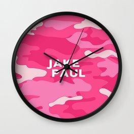 Jake Paul Pink Wall Clock