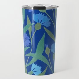 Cornflower field on bright blue Travel Mug