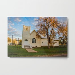 St. Leopold's Catholic Church, Almont, North Dakota Metal Print