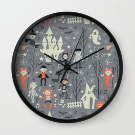 Love shack monsters halloween party Wall Clock