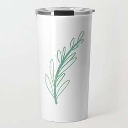 Single Leaf - in Pastel Green Travel Mug