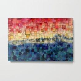 Blue Tide Mosaic Metal Print