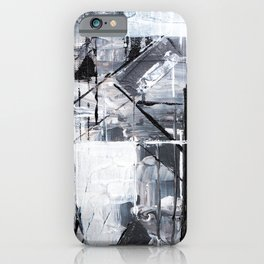 Black & White Abstract Painting iPhone Case