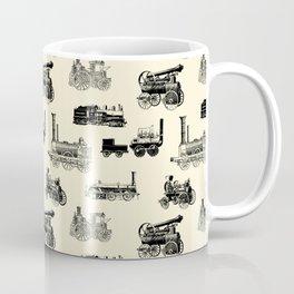 Antique Steam Engines // Parchment Coffee Mug