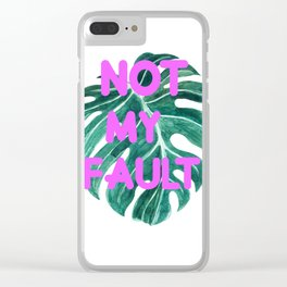 Fault! Clear iPhone Case