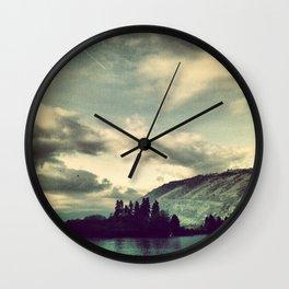 Chicken Charlies Island: Columbia River Gorge Wall Clock